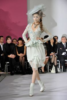 Heloise Guerin Photos Photos - A model walks the runway at the Christian Dior Haute-Couture show as part of the Paris Fashion Week Spring/Summer 2010 at Boutique Dior on January 25, 2010 in Paris, France. - Paris Fashion Week Haute Couture S/S 2010 - Christian Dior