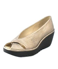 Take a look at this Lead Yaff Wedge by FLY London on #zulily today! $100 !!