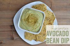 Avocado Bean Dip using Whey Protein powder -- gotta try this.