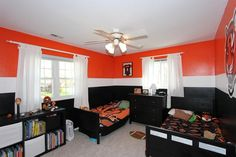 Boy room remodel, Remove clutter to help make your rooms feel bigger. Consider obtaining good storage for that items which clutter the room. A box from the corner takes significantly less room than having things scattered around everywhere. Boys Room Design, Boys Room Decor, Kids Room, Thomas Bedroom, Small Room Bedroom, Bedroom Ideas, Bedroom Orange, Interior Decorating, Interior Design