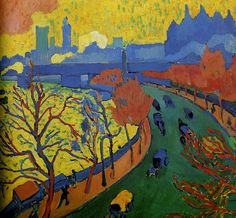 Derain, Andre - 1906 Charing Cross Point (Musee d'Orsay, Paris)