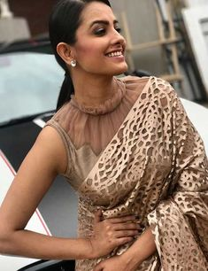 Stylish Fancy Blouse Designs For Latest Saree Blouses Designs From 2017 That Are Sure To Amaze YouAnita Hassanandani Images In Designer Latest Blouse Designs 2018 Patterns, Anita Hassanandani is an IndianLooking for stylish blouse designs fo Blouse Back Neck Designs, Netted Blouse Designs, Fancy Blouse Designs, Saree Jacket Designs Latest, Golden Blouse Designs, Sari Design, Saree Blouse Patterns, Designer Blouse Patterns, Pattern Blouses For Sarees