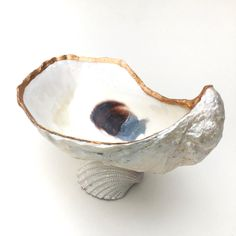Oyster Shell Ring Dish, Oyster Shell Decor, Seashell Ring Holder, Beach Decor, Seashell Decor, Coastal Decor, Gift for Her, Beach Bedroom by CoastalCornucopia on Etsy https://www.etsy.com/listing/502170817/oyster-shell-ring-dish-oyster-shell