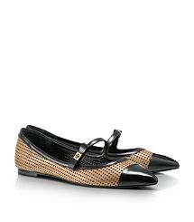 Larissa Flat - always wear ballet flats...this might be a nice change. i esp love the bows on the straps...