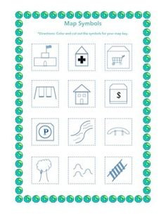 map symbols ks1 google search grade two socials pinterest symbols search and maps. Black Bedroom Furniture Sets. Home Design Ideas