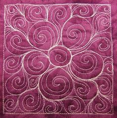 The Free Motion Quilting Project: Day 191 - Spiral Flowers