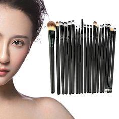 Venta caliente 20 Unids Maquillaje Polvos Sombra de Ojos Delineador de Labios Cosmético del Cepillo