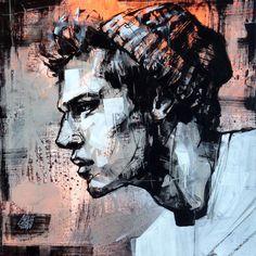 MAN WARM CAP by @GRAFFMATT #art #carredartistes @Carre d'artistes #artgallery #french #artist #graffmatt #painting #illustration #drawing #portrait #man #contemporaryart #fineart #modern #forsale #dark #inspiration
