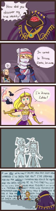 I love this whole idea that Impa is a really an overprotective mother figure to Princess Zelda. We never see Zelda's mom, so she has to be.