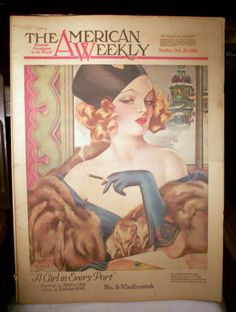 1938 Oct 23 American Weekly Henry Clive Girl Every Port Magazine Complete Issue | eBay