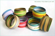 Polymer Clay Bracelets by Iris Mishly, via Flickr