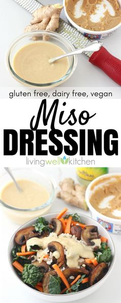 How to make Miso Dressing. This vegan miso salad dressing recipe using white miso is a versatile sauce that adds a flavor to any dish. It's a great way to incorporate more fermented foods into your diet. Miso Dressing, Dressing For Fruit Salad, Salad Dressing Recipes, Salad Dressings, Sugar Free Salad Dressing, Vegetarian Recipes, Cooking Recipes, Healthy Recipes, Fruit Recipes