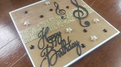 Music themed birthday card - for men or women