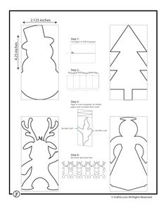 Christmas paper chain template