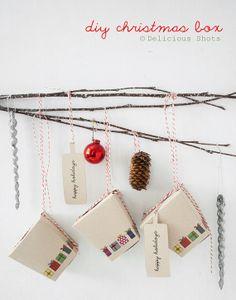 DIY Christmas Box - Printable