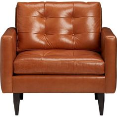 Petrie Leather Chair in Chairs | Crate and Barrel. The most comfortable chair we've found.