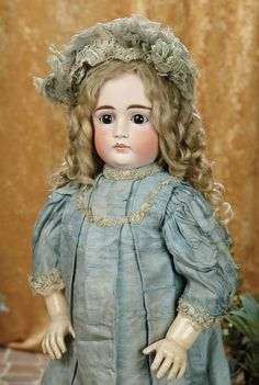 A Matter of Circumstance: 77 Gorgeous German Bisque Closed Mouth Child, Size 15, by Kestner with Original Costume