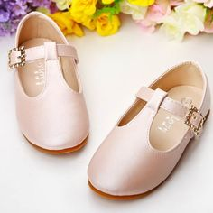 Cute Pink T Strap Flower Pageant Girl Girls Party Dress Shoes Buy SKU-133554