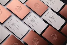 Monotypo Studio | blind embossing on copper card