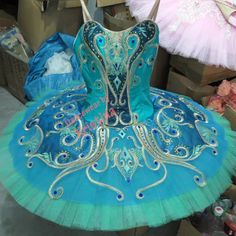 Professional Green & Teal Ballet Tutu Costume Le Corsaire La Esmeralda YAGP MTO #Unbranded