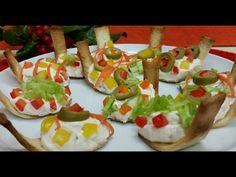 """Receta: Canapés en """"cucharitas comestibles"""" (Navidad y Año Nuevo) - YouTube"""