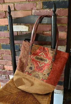 My newest creations using upholstery fabric samples.