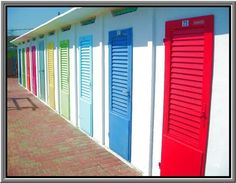beach doors, Rimini... Love this so much it's going on my Italy board and my beach art board!