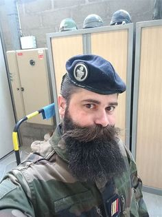 13 Men's Military Haircut Styles (Standart Regulations, High and Tight) - Harp Times Walrus Mustache, Beard No Mustache, Big Moustache, Great Beards, Awesome Beards, Thin Hair Haircuts, Haircuts For Men, Black Hairstyles, Hairy Men
