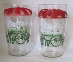 vintage drinking glasses - Google Search Cocktail Glassware, Vintage Cocktails, Table Clothes, Vintage Glassware, Vintage Kitchen, Pint Glass, Cheers, Drinking, Collections