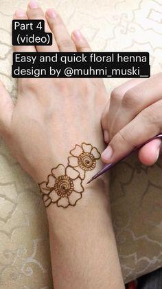 Circle Mehndi Designs, Floral Henna Designs, Henna Tattoo Designs Simple, Back Hand Mehndi Designs, Mehndi Designs Book, Modern Mehndi Designs, Mehndi Designs For Girls, Mehndi Designs For Beginners, Mehndi Designs For Fingers