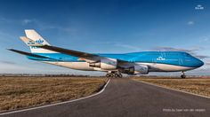 """KLM Boeing 747-406M PH-BFT """"City of Tokyo"""" on the taxiway at Amsterdam-Schiphol"""