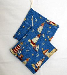 Potholders featuring Lighthouses by sewinggranny on Etsy, $6.00