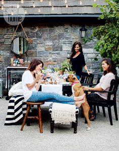 House tour: Jillian Harris' eclectic romantic dream home. Let this tour via slideshow inspire you. Jillian Harris, Harris House, Candles In Fireplace, Cozy Patio, Extreme Makeover, Decorating On A Budget, Home Fashion, Scandinavian Style, House Tours