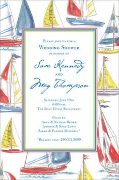 Sailing Invitations