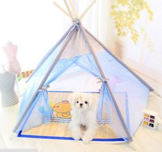 15ZP01 Dog Bed Puppy Kennel Cat Sofa House Cushion Pens Sofa Pet Tent New…
