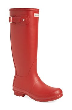 Hunter 'Original Tall' Rain Boot (Women) available at #Nordstrom-size 5.5 or 6 (you might be able to get kids version in a larger size but that fitz small footed women)