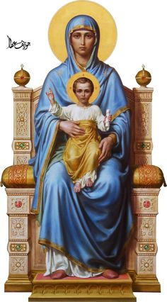 Mary And Jesus by on DeviantArt Jesus And Mary Pictures, Images Of Mary, Mary And Jesus, Blessed Mother Mary, Divine Mother, Blessed Virgin Mary, Catholic Art, Religious Art, Jesus Background