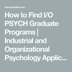 application of industrial psychology