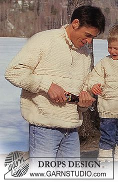 Sweater in Alaska with texture and zipper - only knit & purl, within beginners' reach - many sizes