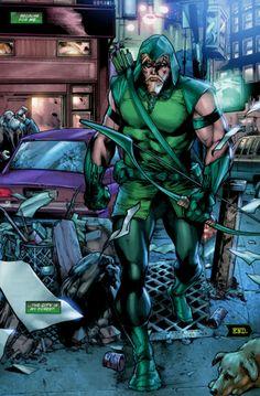 traversing the urban jungle. Arrow Comic, Arrow Dc Comics, Marvel Vs, Marvel Dc Comics, Green Lantern Green Arrow, Arsenal, Comic Art, Comic Books, Arrow Black Canary