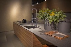 #Cevisama2015. Great image of Domo iTOPKer kitchen countertop.