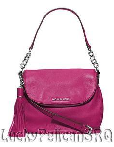 Michael Kors Bedford Medium Tassle Convertible Shoulder Bag Deep Pink NWT #MichaelKors #ShoulderBag