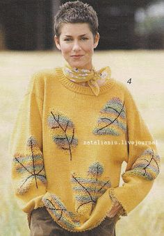 by Narelle on Etsy Mohair Sweater, Sweater Shirt, Wool Sweaters, Pullover Sweaters, Intarsia Knitting, Knitting Stitches, Knitting Patterns, Knitwear Fashion, Knit Fashion