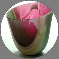 Amanda Simmons from the UK does amazing drop ring glass vessels.