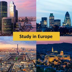 A #Guide to studying in #Europe. #StudyAbroad #UK #France #Germany #Italy #Spain #Russia