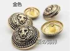 12kpl Lion Vintage Uusi Metal Round Shank Napit Coat ompelu Somiste