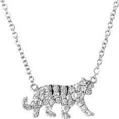 QEELIN Petite Tiger white gold diamond pendant necklace £ 1,170. Classical elegance meets casual chic in Qeelin's Petite collection. Made of white gold and diamonds, the collection's understated bracelets, necklace, rings can be mixed and matched for any occasion. Symbolising royalty, fearlessness and wrath, this 18K white gold and diamond tiger pendant is a style to be cherished.