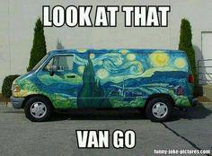 Look at the van go art painter
