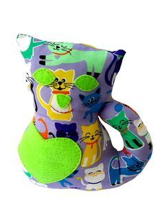 Kitten plushie stuffed animal cat  100% cotton by CreationsMabrisa