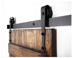 Pfeil Stil Antik Schwarz Schiebetür Barn Holz Track Hardware-Kit( 6ft-Pfeil kit)                                                                                                                                                                                 Mehr